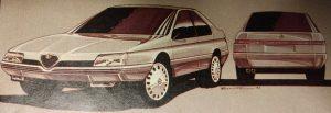 altro disegno di Pininfarina molto simile alla versione definitiva - 1982