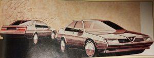 i primi disegni della 164 - 1983
