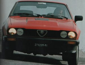 "Reutemann prova la ""GTV 2500"""