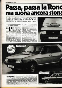 articolo di Gente Motori del 1983